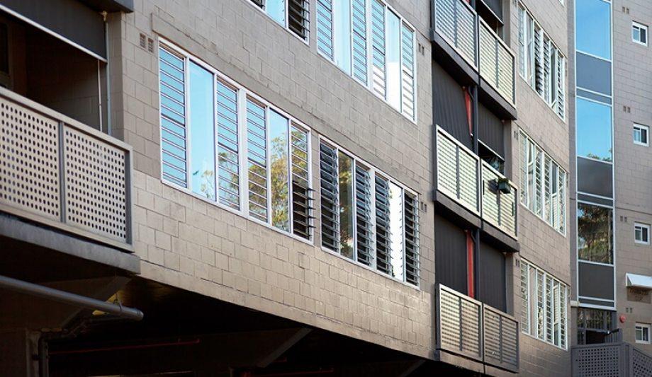 Johanna O'Dea Court building louvres windows