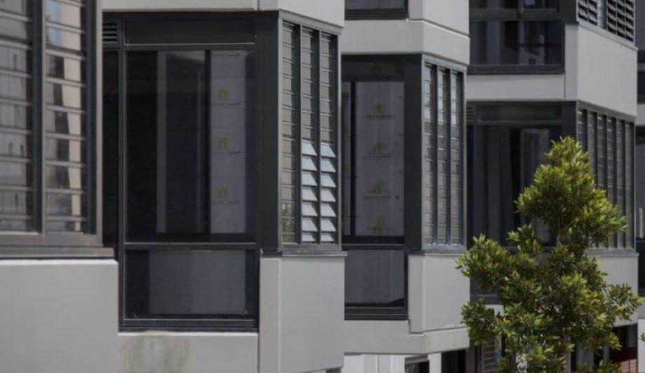 Meriton Luna Apartments Lewisham windows close up