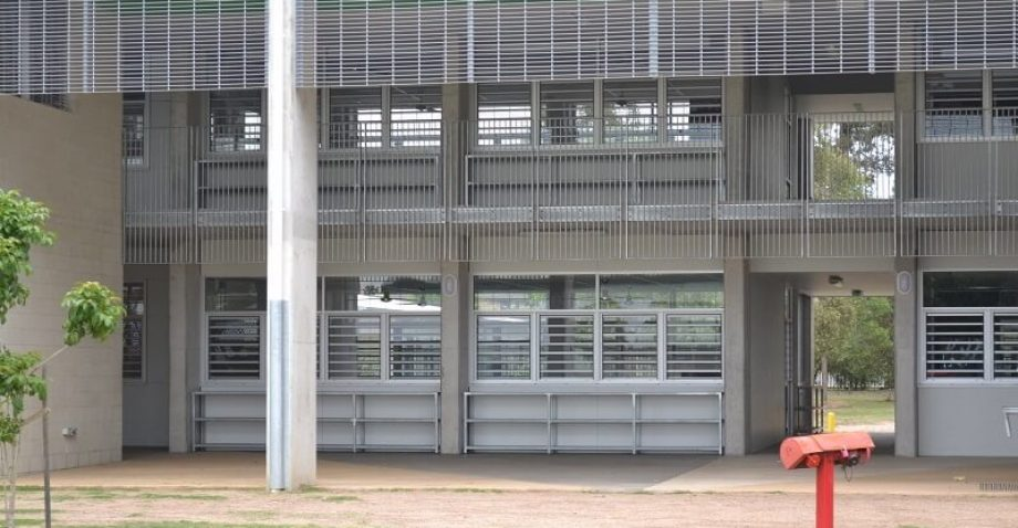 Morayfield State High School new building close up