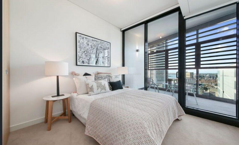 York and George Sydney apartment bedroom
